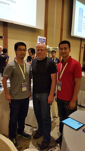with Rasmus Lerdorf, the father of PHP at PHPConf Asia, Singapore
